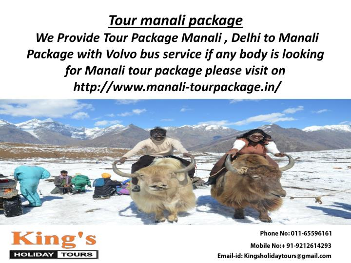 Tour manali package