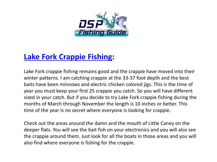 Lake Fork Crappie
