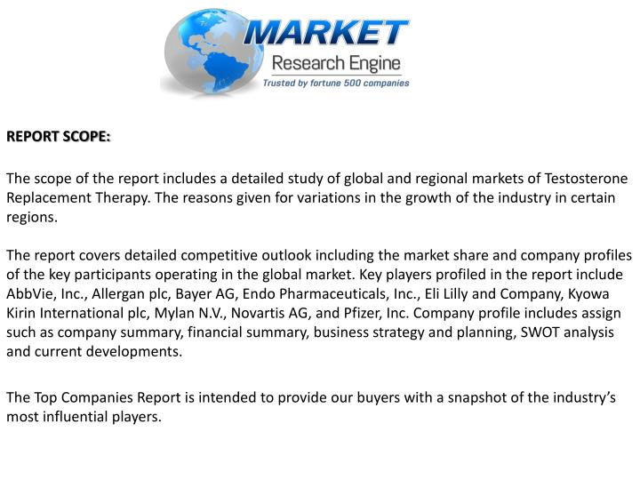 REPORT SCOPE: