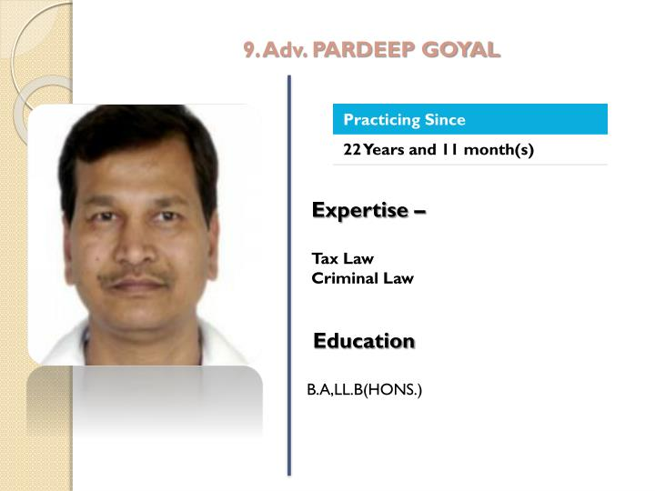 9. Adv. PARDEEP GOYAL