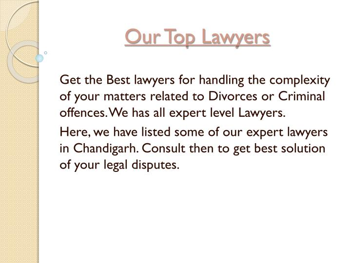 Our top lawyers