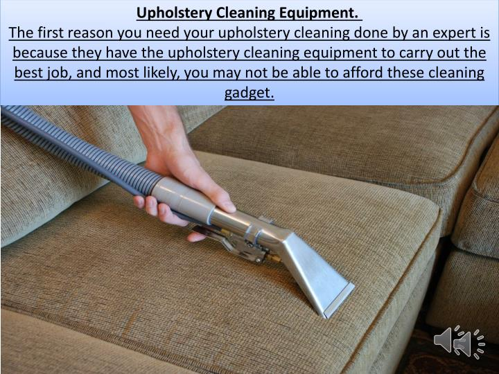 Upholstery Cleaning Equipment.