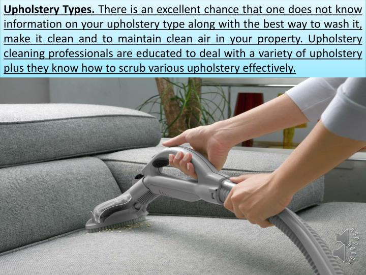 Upholstery Types.