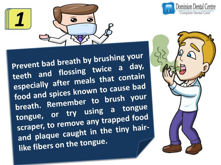 Preventing bad breath