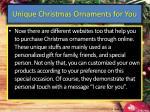 unique christmas ornaments for you