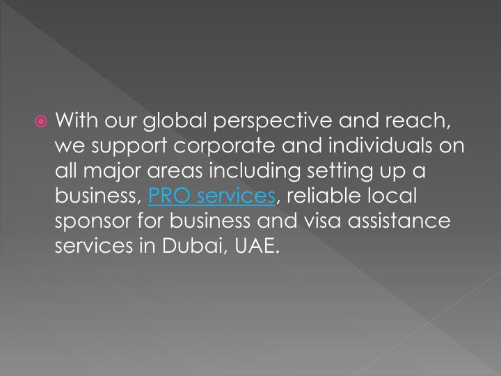 With our global perspective and reach, we support corporate and individuals on all major areas inclu...