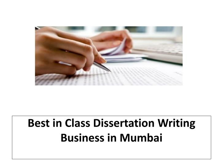 What is dissertation writing ppt