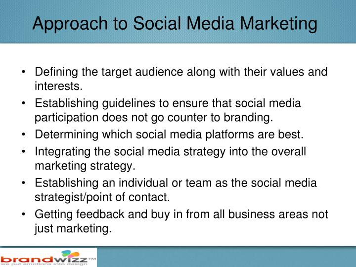 Approach to Social Media Marketing