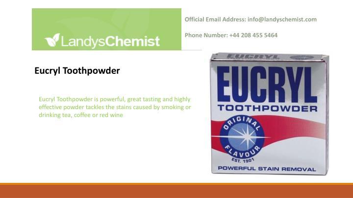Official Email Address: info@landyschemist.com