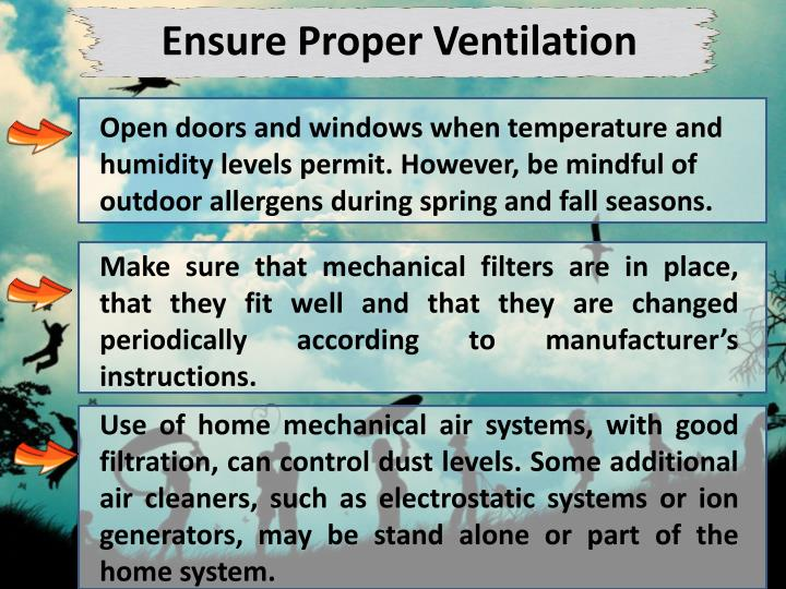 Ensure Proper Ventilation