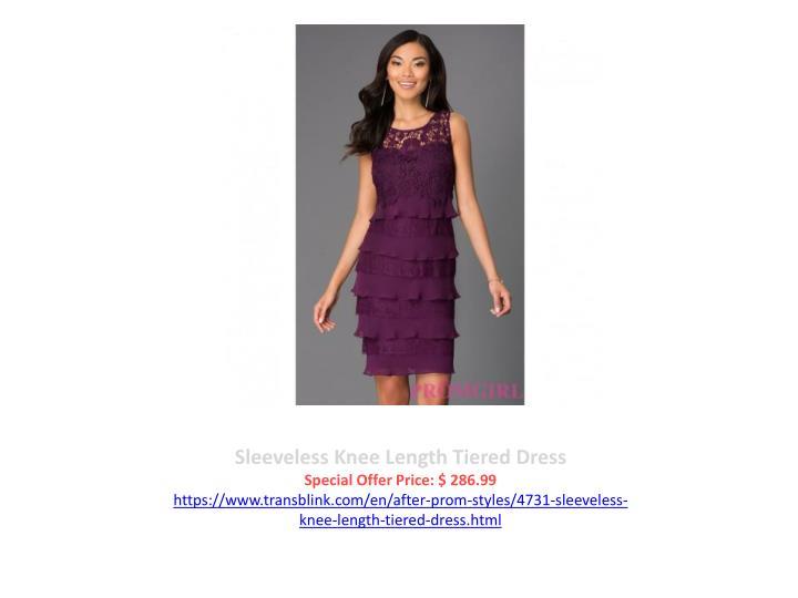 Sleeveless Knee Length Tiered Dress