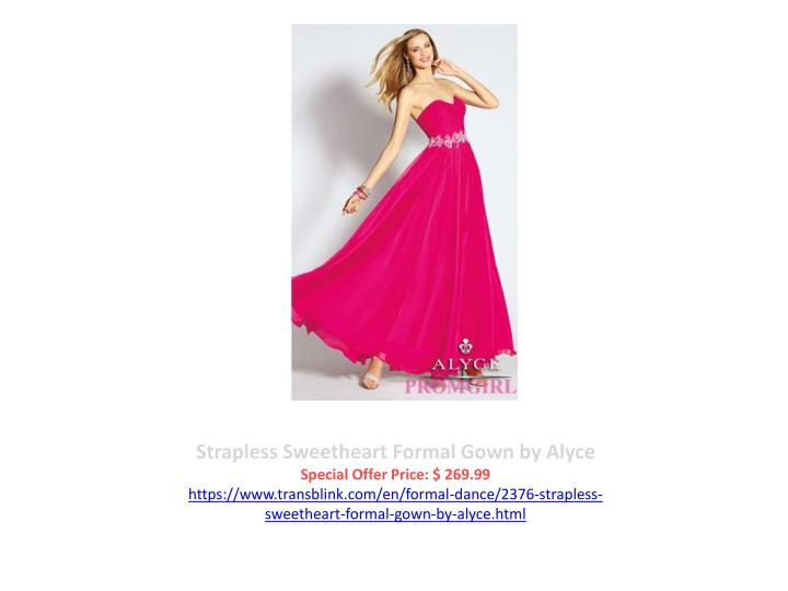 Strapless Sweetheart Formal Gown by Alyce