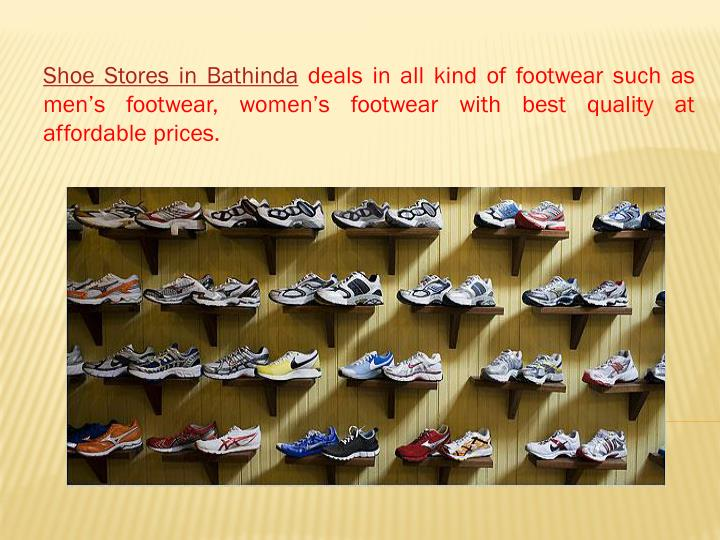 Shoe Stores in