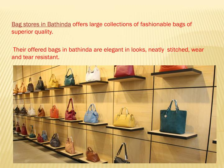 Bag stores in