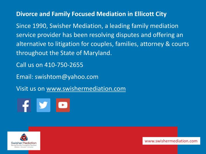 Divorce and Family Focused Mediation in Ellicott City