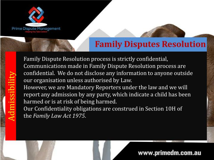 Family Disputes Resolution