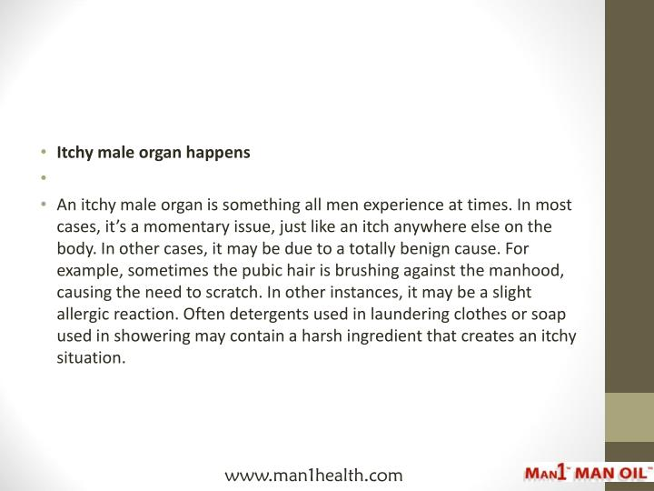 Itchy male organ happens