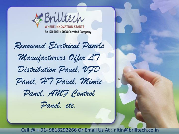 Renowned Electrical Panels Manufacturers Offer LT Distribution Panel, VFD Panel, HT Panel, Mimic Panel, AMF Control Panel, etc.