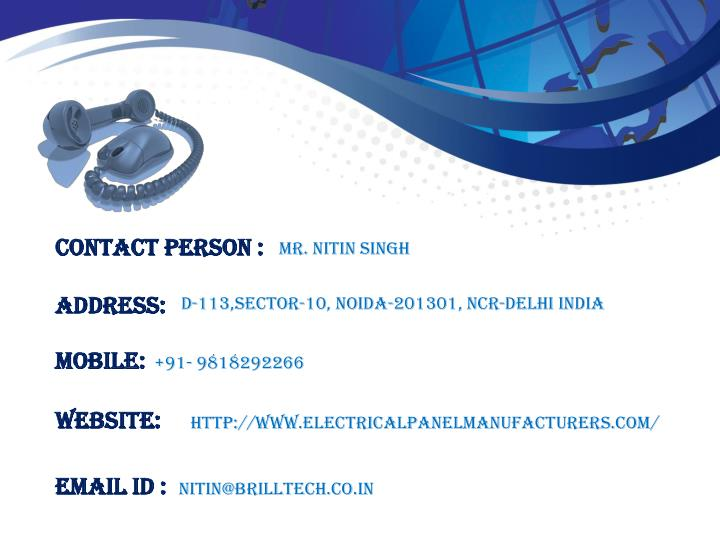 Contact Person :