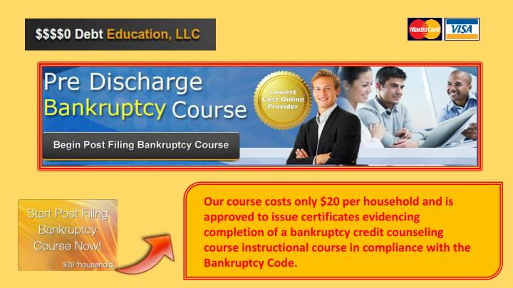 Our course costs only $20 per household and is