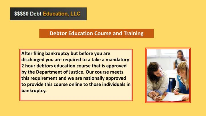 Debtor Education Course and Training