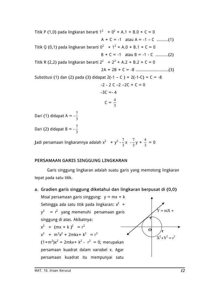 Titik P (1,0) pada lingkaran berarti 1