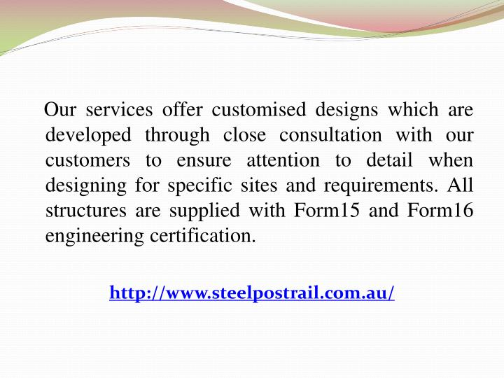 Our services offer