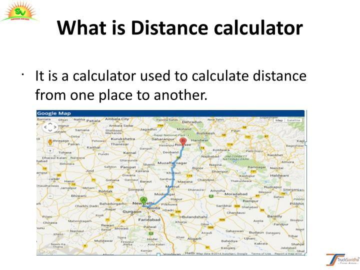 What is Distance calculator
