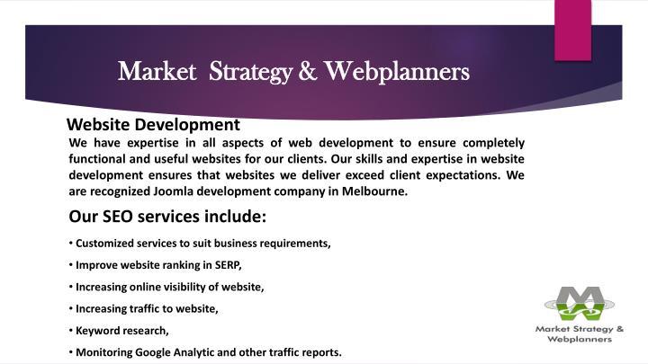 Market  Strategy & Webplanners