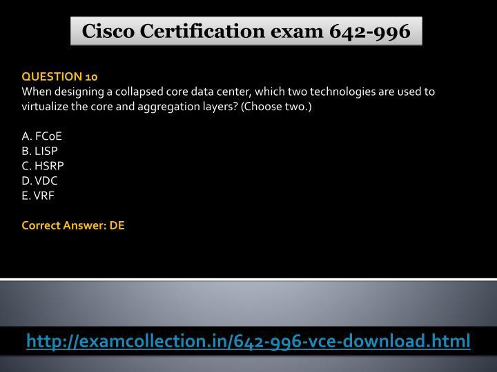 Cisco Certification exam 642-996