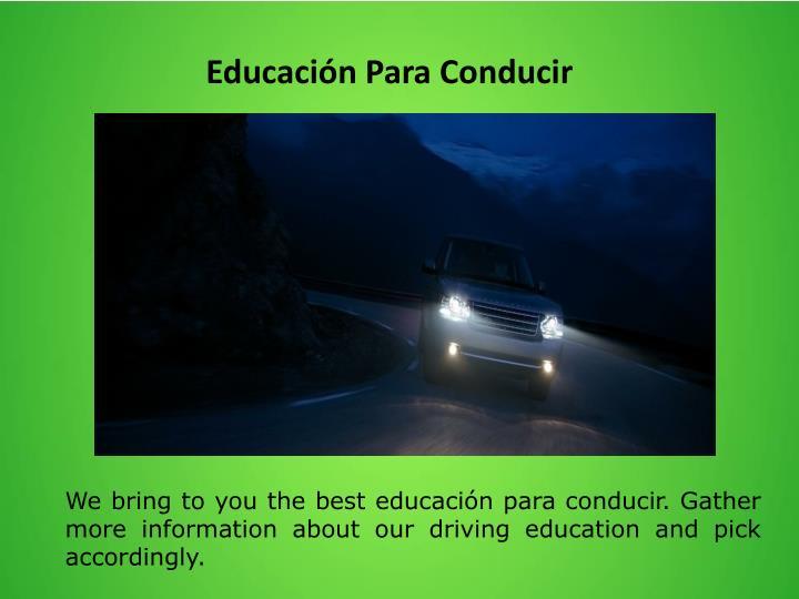 Educación Para Conducir
