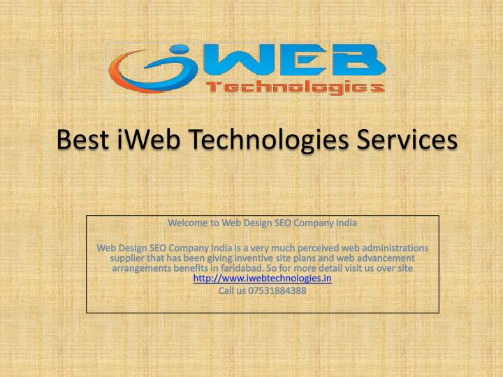 Best iweb technologies services