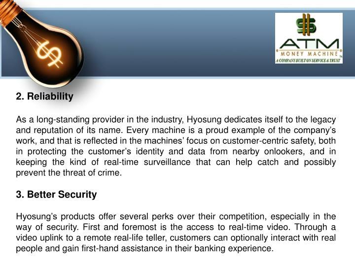2. Reliability