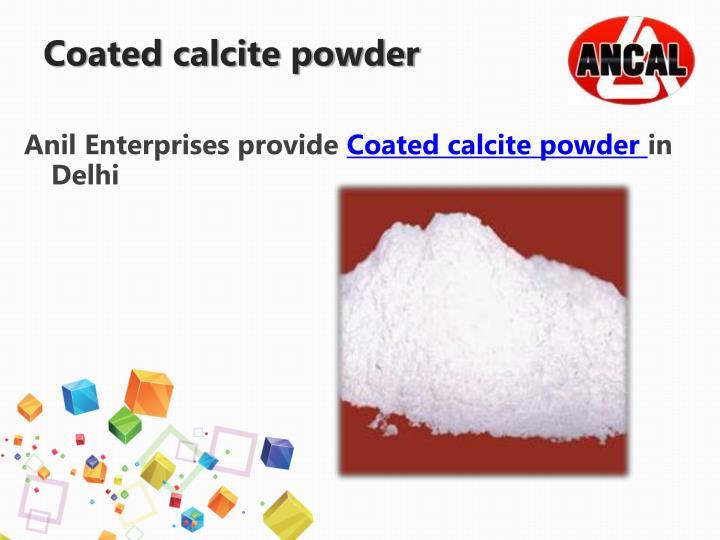 Coated calcite