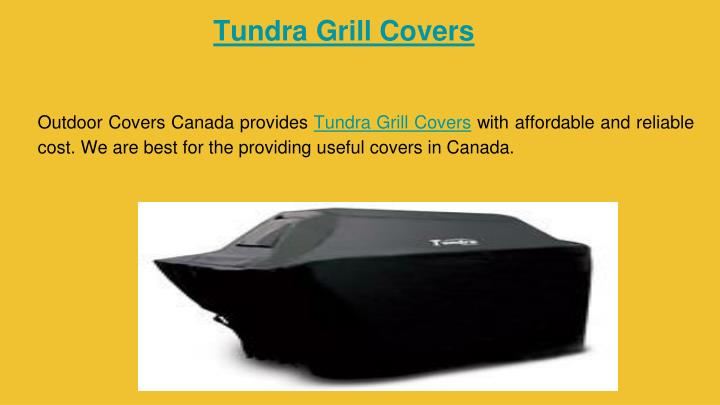 Tundra Grill Covers