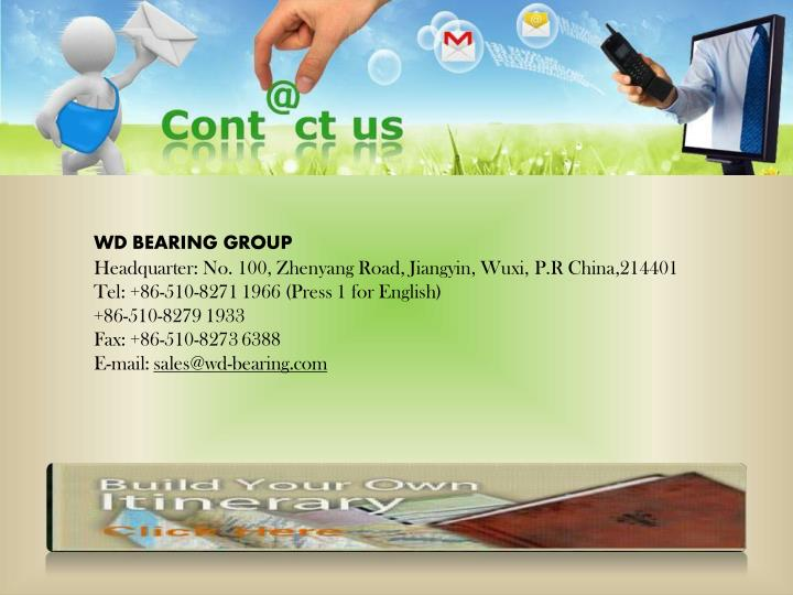 WD BEARING GROUP