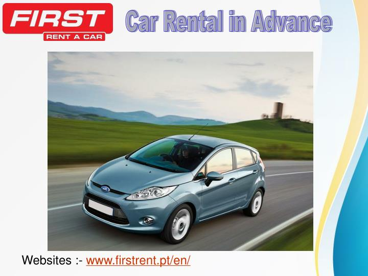 Car Rental in Advance