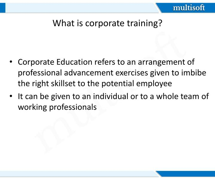 What is corporate training