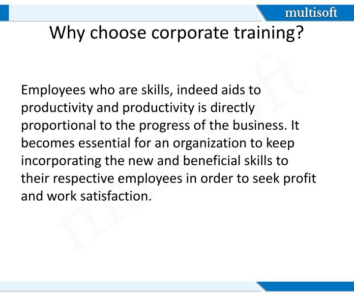 Why choose corporate training?