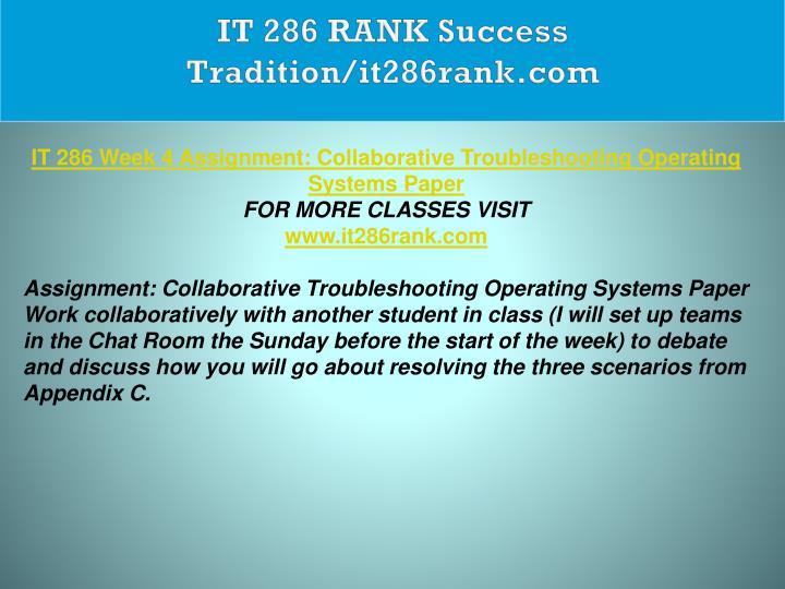 IT 286 RANK Success Tradition/it286rank.com