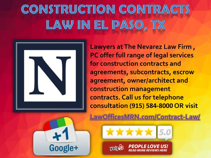 Lawyers at The Nevarez Law Firm ,