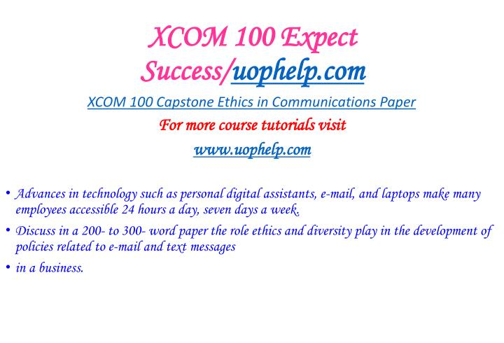 Xcom 100 expect success uophelp com1