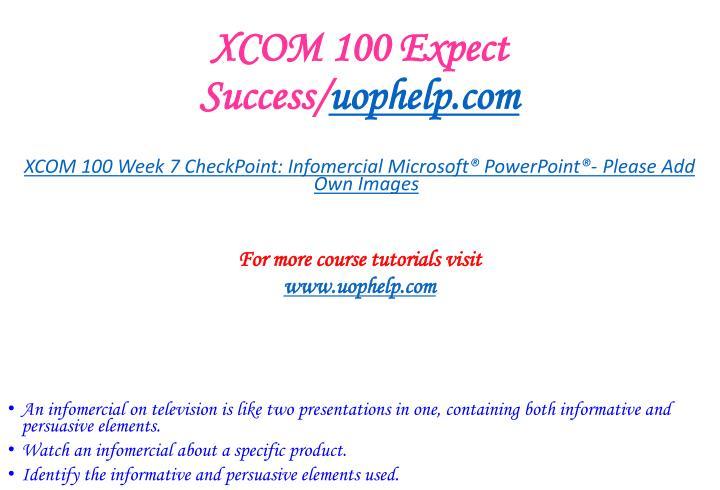 XCOM 100 Expect Success/