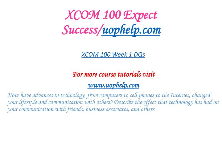 XCOM 100 Expect Success/