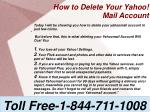 how to delete your yahoo mail account