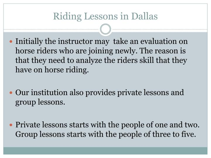 Riding Lessons in Dallas