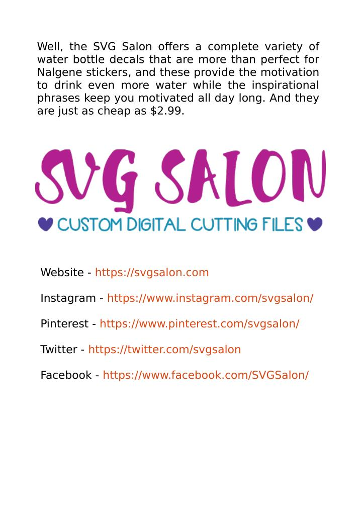 Well, the SVG Salon offers a complete variety of
