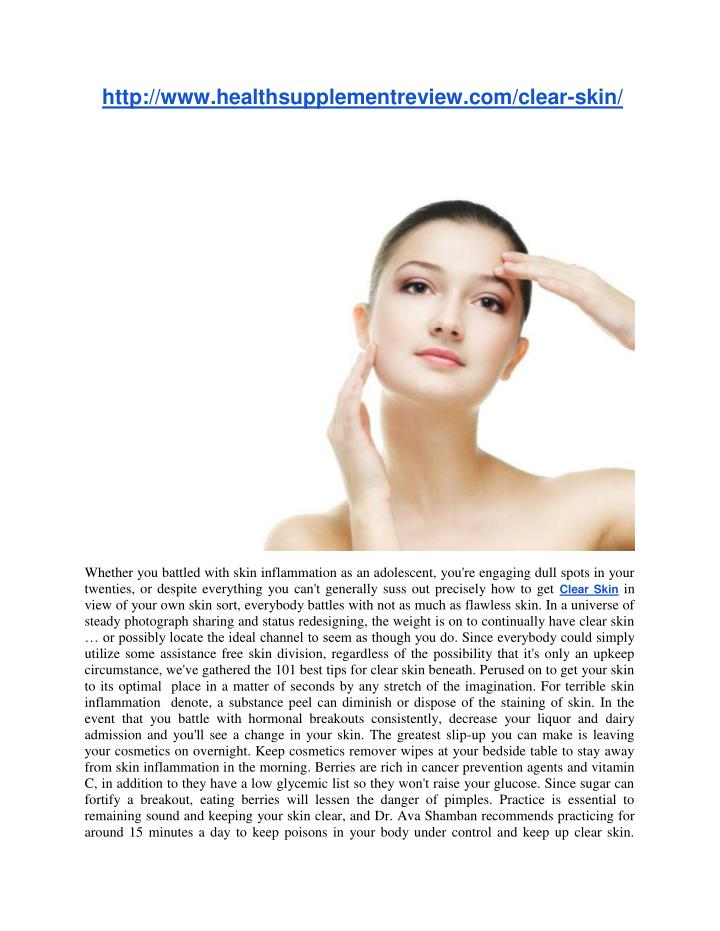 http://www.healthsupplementreview.com/clear-skin/