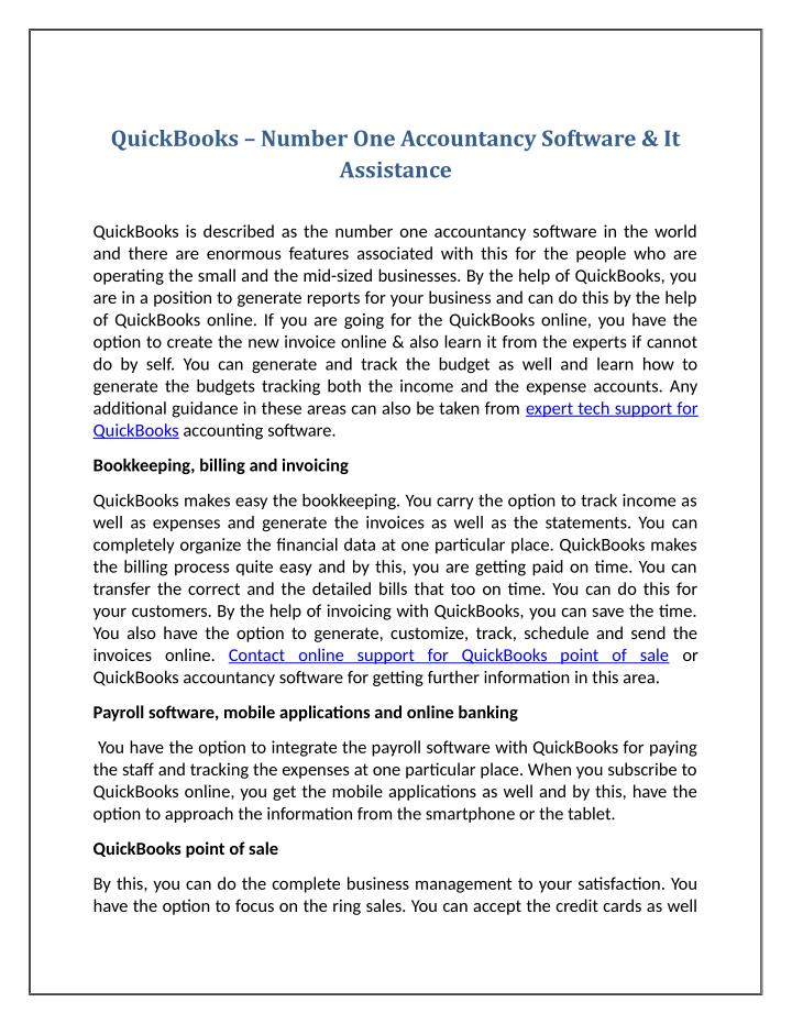 QuickBooks – Number One Accountancy Software & It