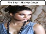 rimi basu hip hop dancer